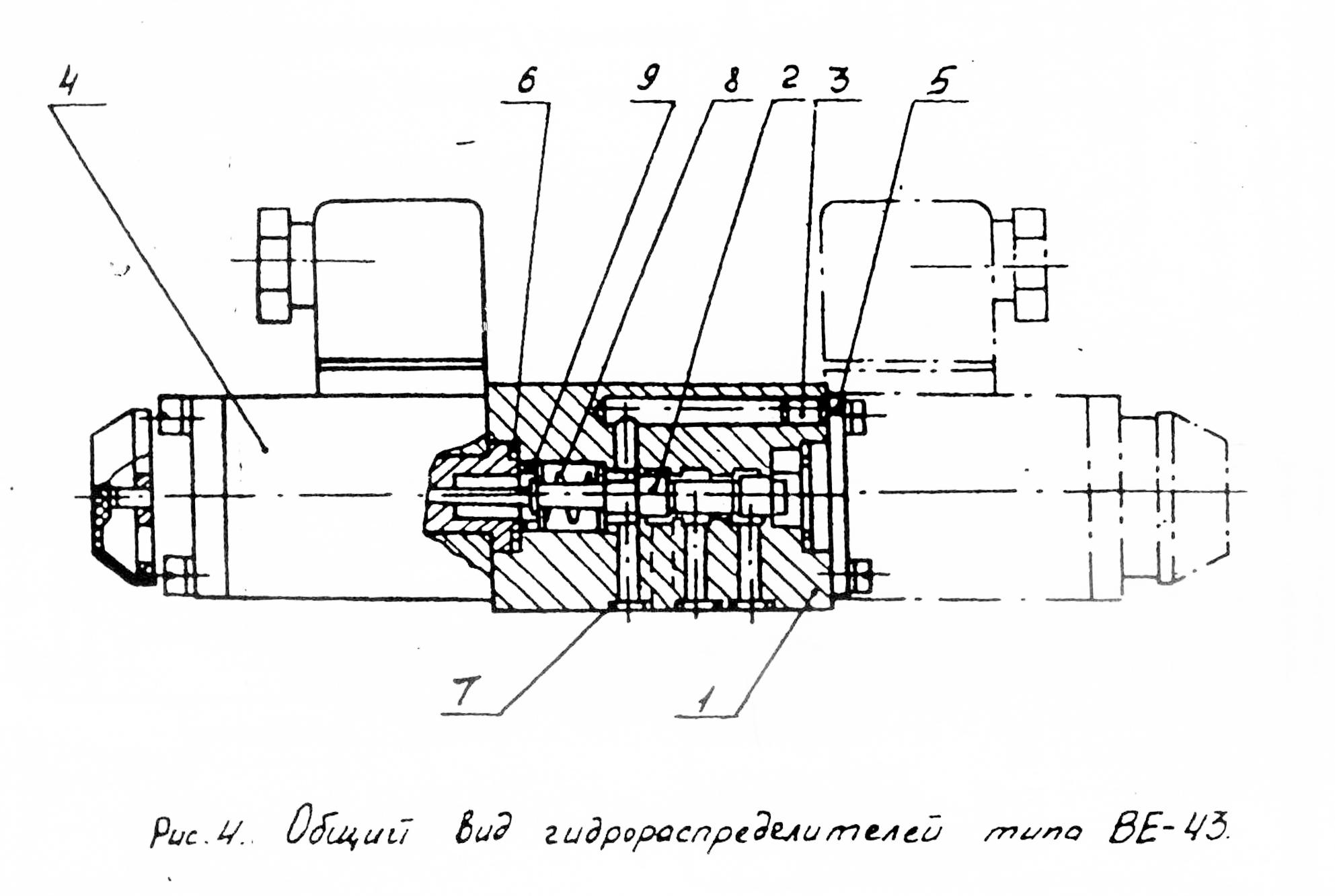 Общий вид гидрораспределителей типа ВЕ43-574 ВЕ43-754 ВЕ43-24 ВЕ43-573