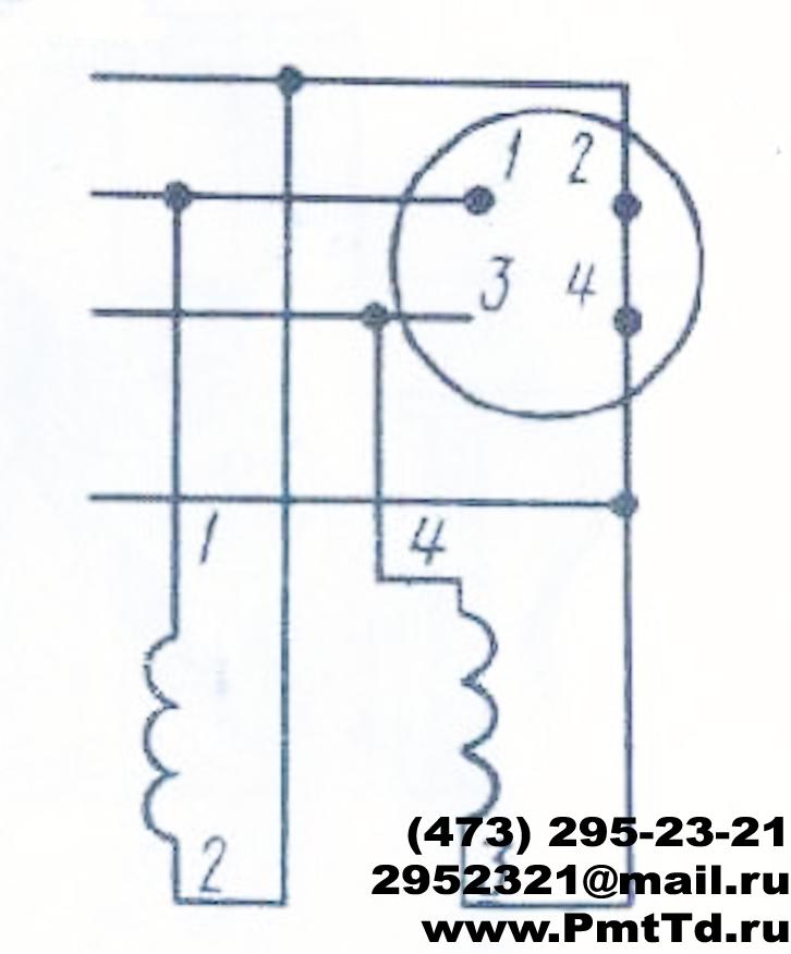 Рис 5 Схема соединения электромагнитов с разъемом