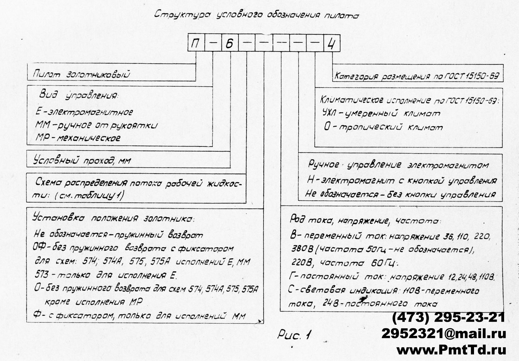 Структура условного обозначения пилота Пе6