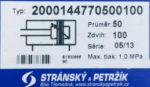 Пневмоцилиндр 2000144770500100(Чехия)