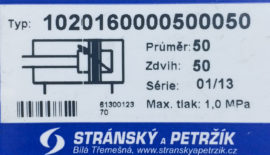 Пневмоцилиндр Type 1020160000500050 (Чехия)