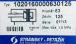 Пневмоцилиндр Type 102016000063012 5 (Чехия)
