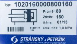 Пневмоцилиндр Type 1020160000800160(Чехия)