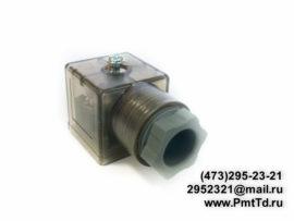 Электрический разъём DIN 43650-A (широкого типа)