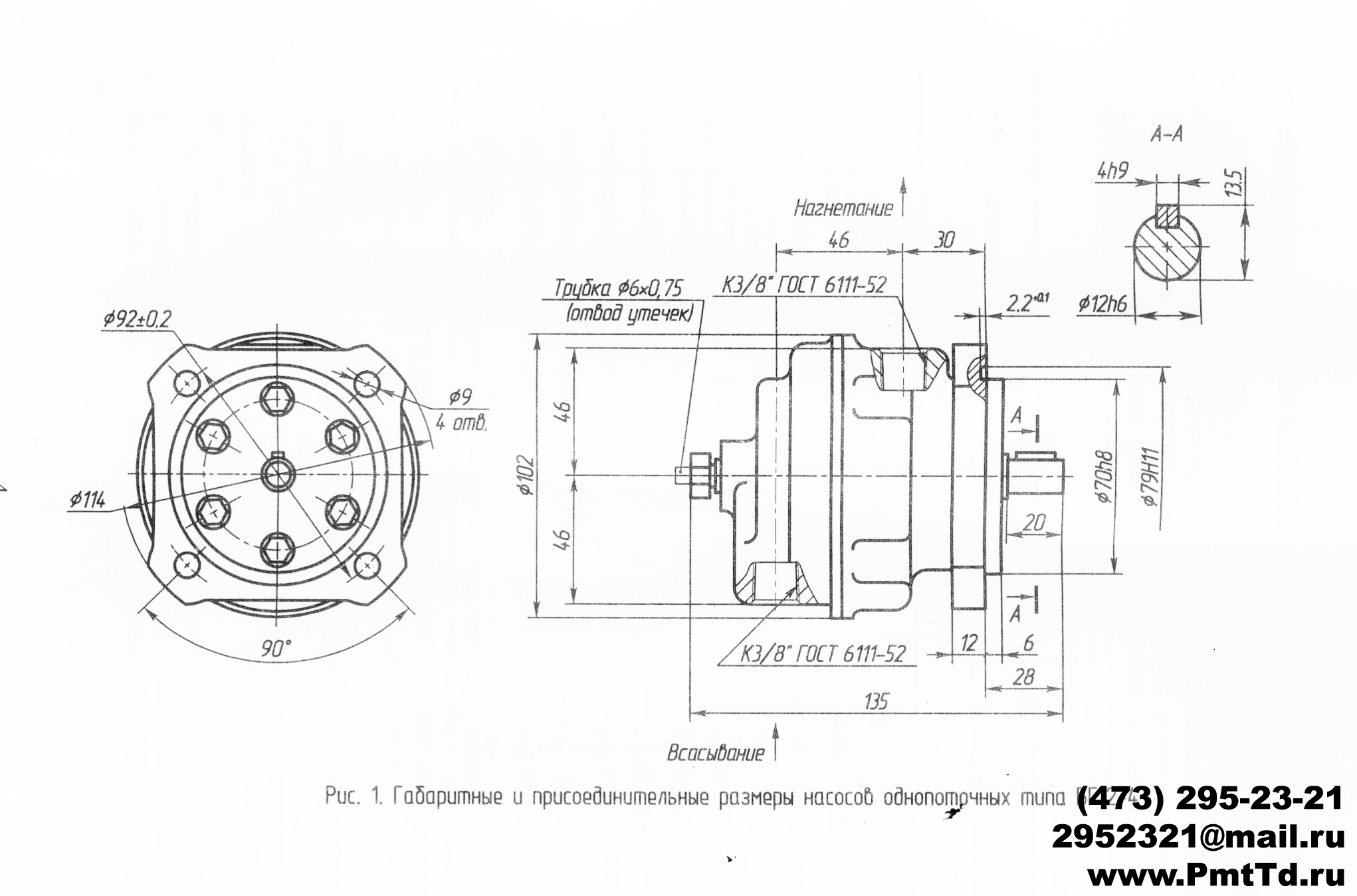 Гидравлические насосы БГ12-41Б, БГ12-41А, БГ12-41, БГ12-42