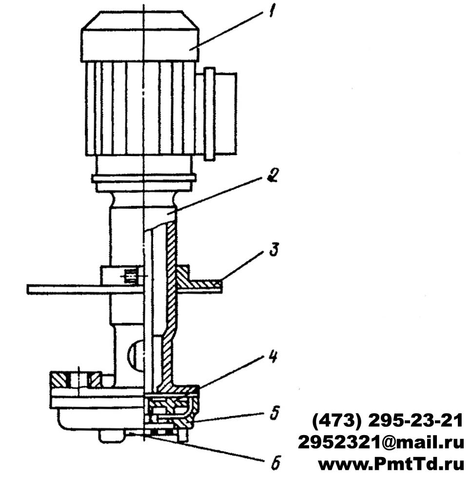 Схема электронасоса П-25М, П-50М, П-100М, П-200М