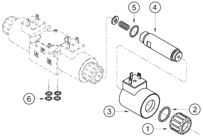 Схема монтажа Электромагнита (катушки) MFZ10(MFZ12)-37YC DC24(DC12), MFZ10(MFZ12)-90YC DC24(DC12), MFB10(MFZ12)-37YC AC220(AC110), MFB10(MFZ12)-90YC AC220(AC110)